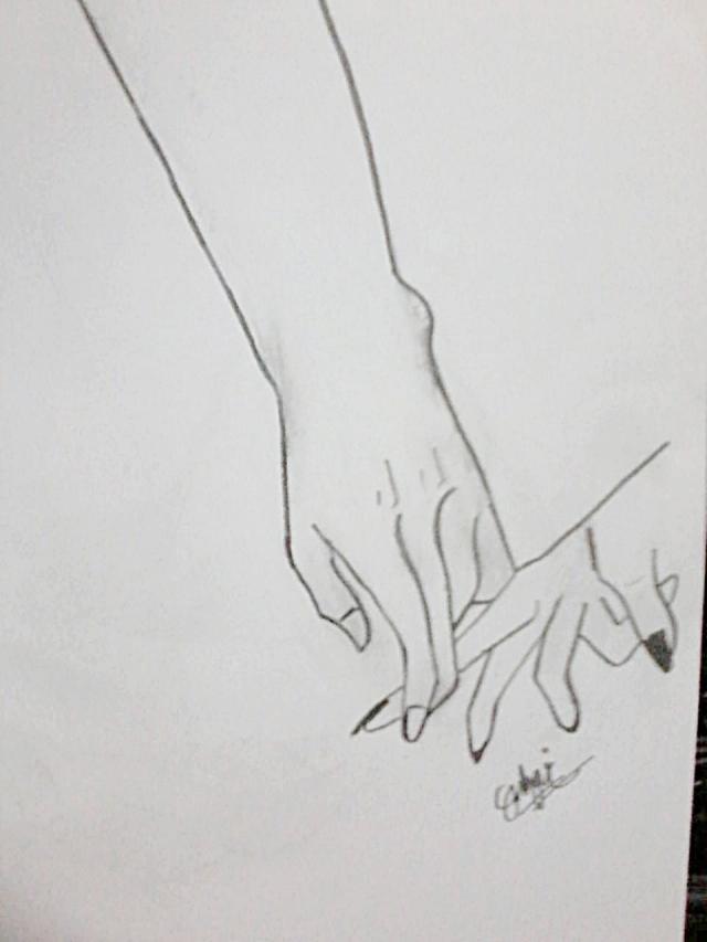 sketsa tangan
